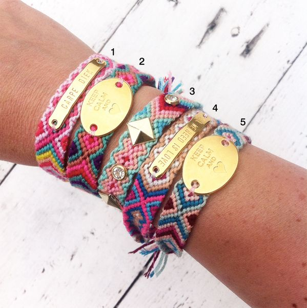 Hippie Freundschaftsband // hippie bracelet via DaWanda.com                                                                                                                                                     Mehr