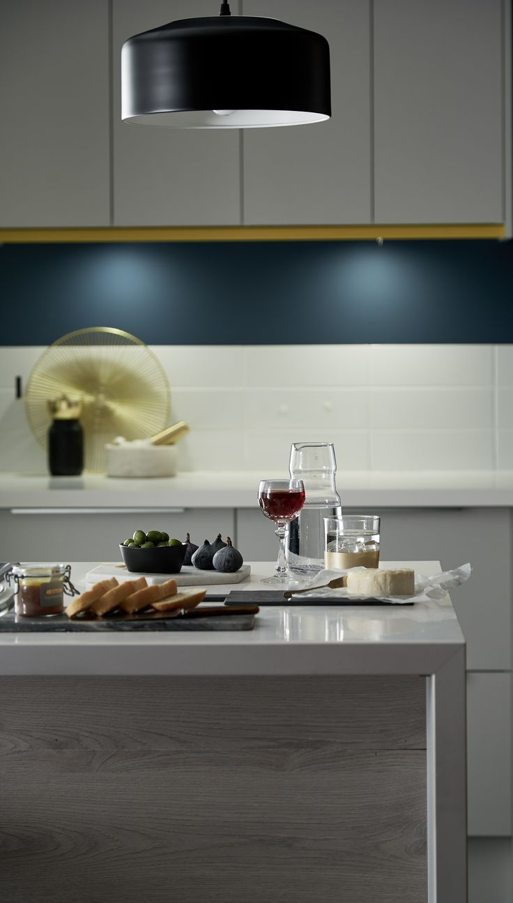 12 best matt kitchens images on pinterest kitchen ideas be add colour to your kitchen by mixing dark grey oak to create a feature greenwich dove grey from the universal collection by howdens