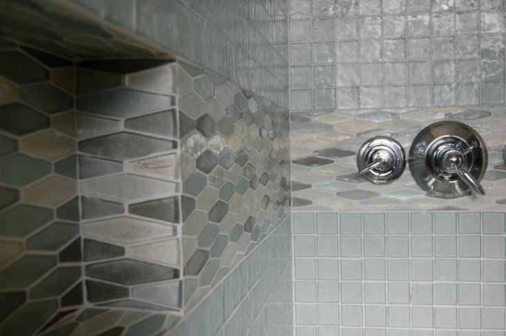 Iridescent tile bathroom contemporary bathroom liz williams - 17 Best Images About Bathrooms Shower Bath On