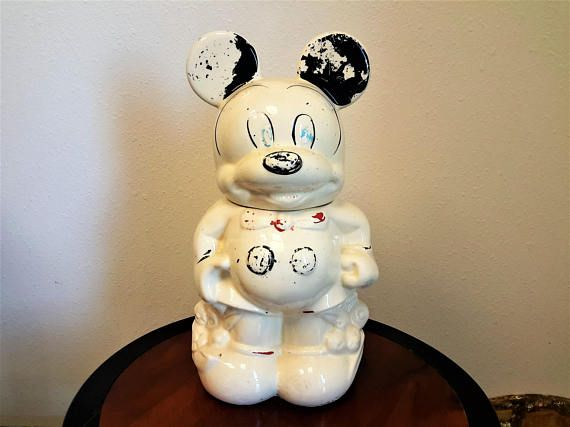 Mickey and Minnie Mouse Cookie Jar Turnabout Walt Disney