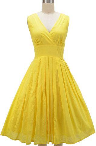 Yellow dress | le bomb shop