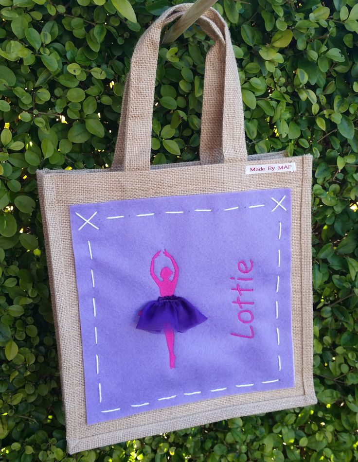 Ballet bag - personalised with embroidery by MadeByMAP on Etsy
