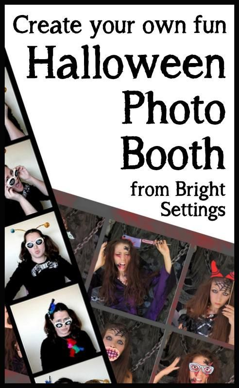 Here's a great idea for your Halloween party—a DIY Halloween photo booth! This would be fun for kids, teens, and adults.