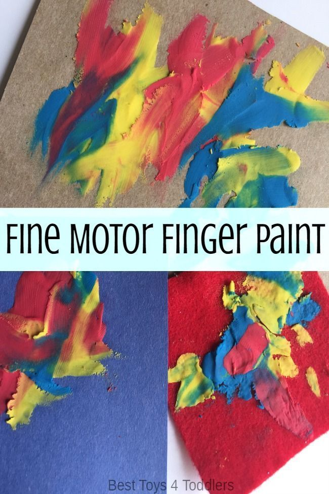Strengthen fine motor skills with this less-mess finger painting activity for toddlers.