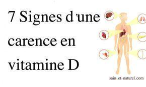 """Carence en vitamine D : """"La vitamine D est une vitamine liposoluble qui joue un rôle dans de nombreuses fonctions importantes du corps."""