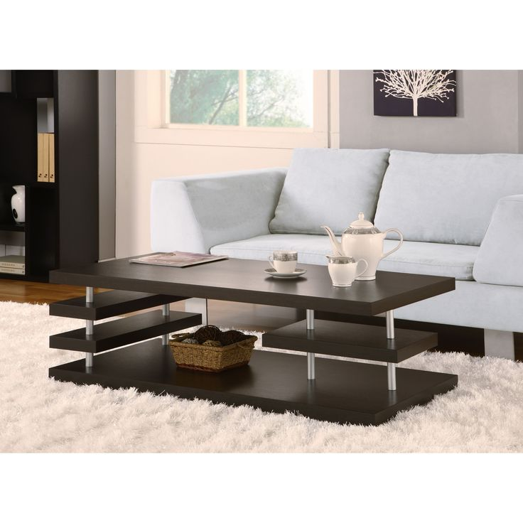 Furniture Of America Aven Dark Cappuccino Coffee Table By Furniture Of  America