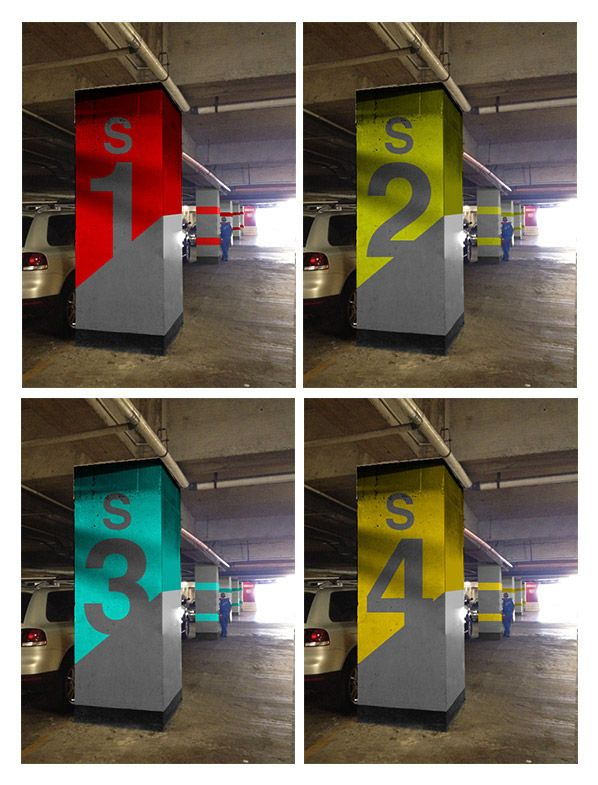 Parking #signage project for Europlaza, a corporate office building in Guatemala, designed to be an international business center in Central America.