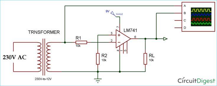 Zero Crossing Detector Circuit Diagram using Op-Amp ... on