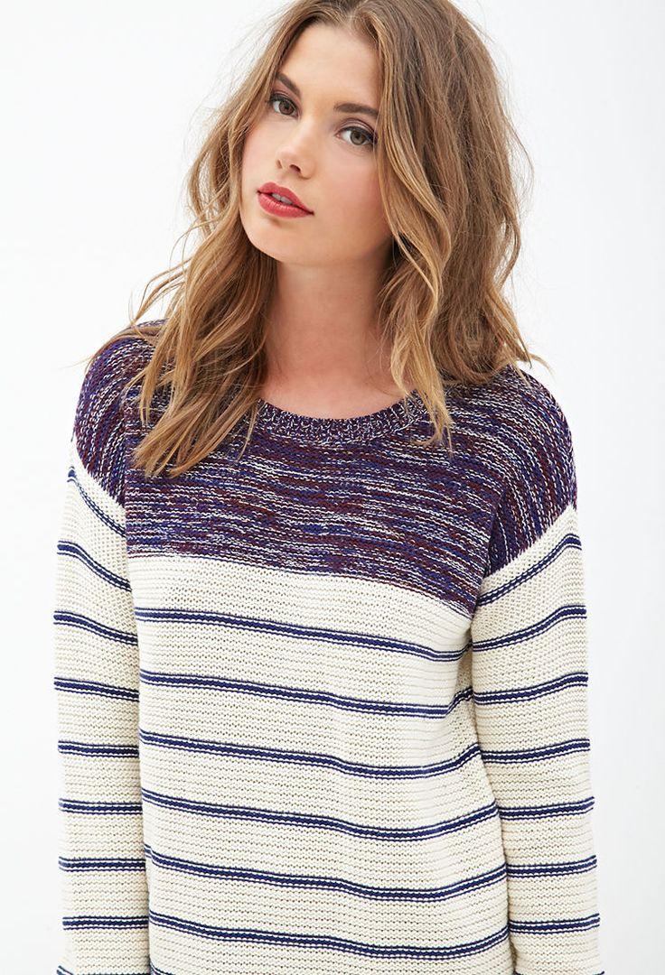 Striped & Marled Sweater #F21StatementPiece