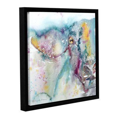 "Latitude Run Sheep 3 Framed Painting Print Size: 10"" H x 10"" W x 2"" D"