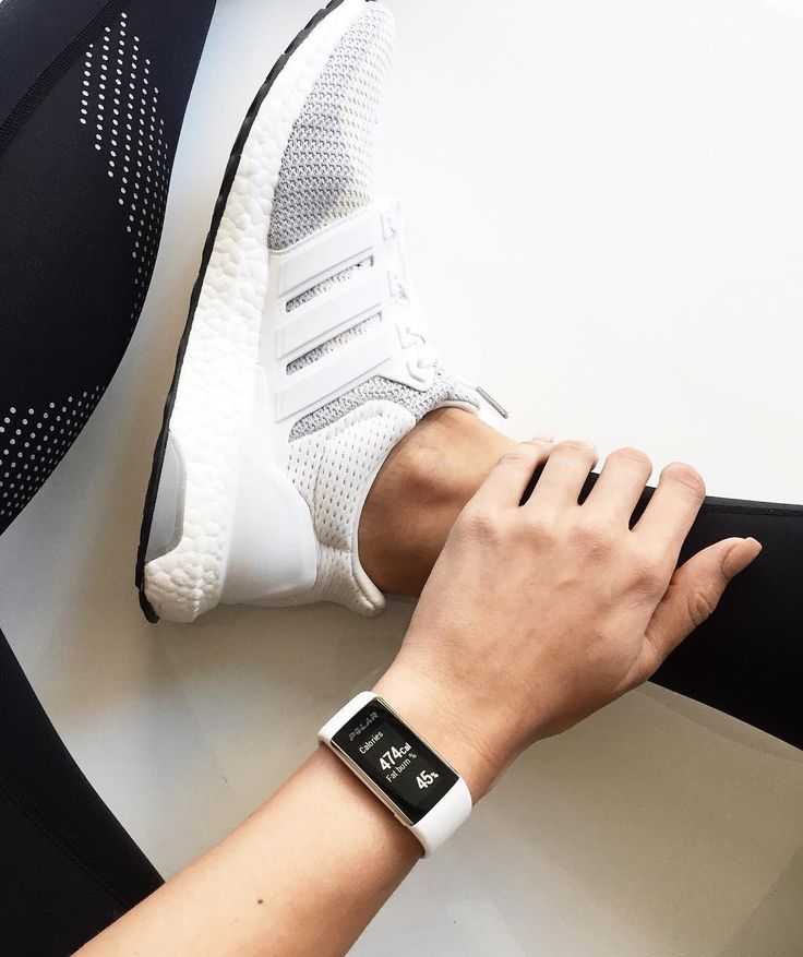 A waterproof fitness tracker watch with wrist heart rate monitor and a color touchscreen. Polar A360. $200