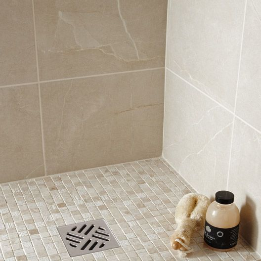 Carrelage salle de bain mural colys e artens en fa ence for Carrelage sdb gris