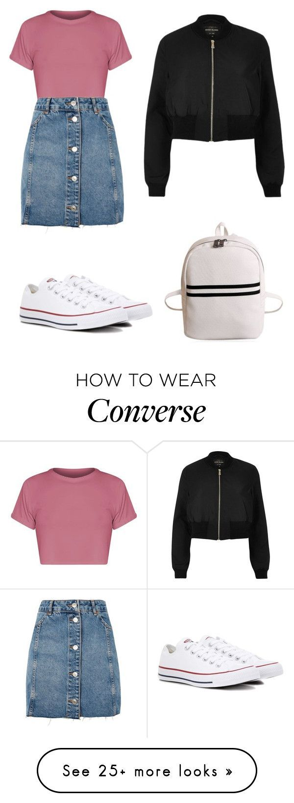 """""""Untitled #967"""" by lucyloojuanita on Polyvore featuring Topshop, River Island and Converse #polyvoreoutfits"""