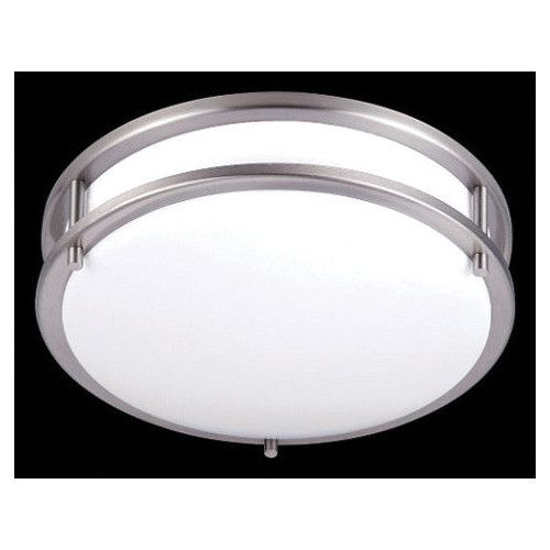 Naiden Flush Ceiling Light with Suede Diffuser | Temple & Webster