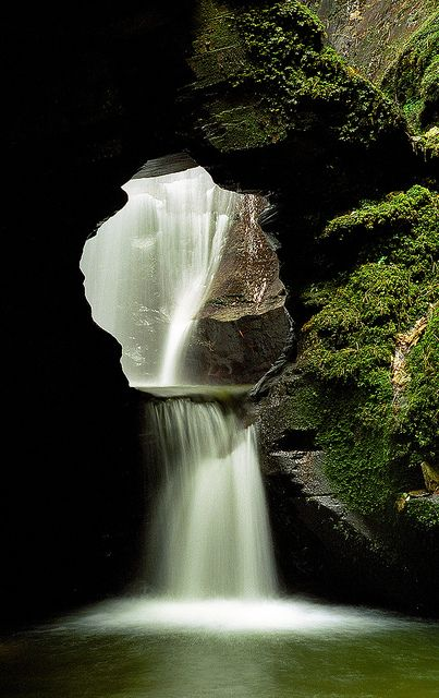 St Nectan's Glen Waterfalls, Cornwall, UK |