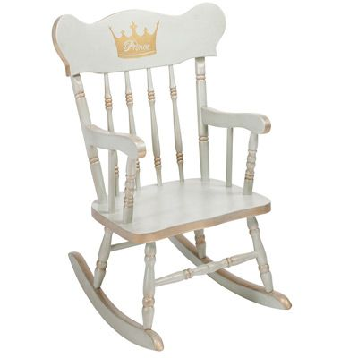 Royal retreats: The latest AFK children's collection! AFK Child Rocking Chair Personalized with Gilding @Layla Grayce #laylagrayce #afk #nurserynuances