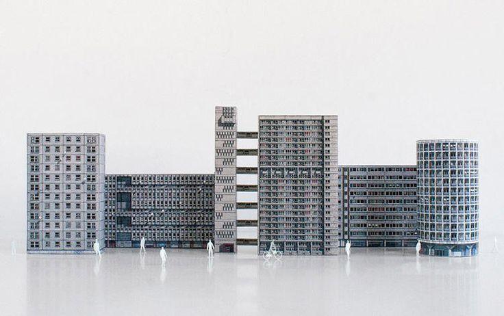 6 | Brutalist Buildings Turned Into Papercraft Models | Co.Design | business + design
