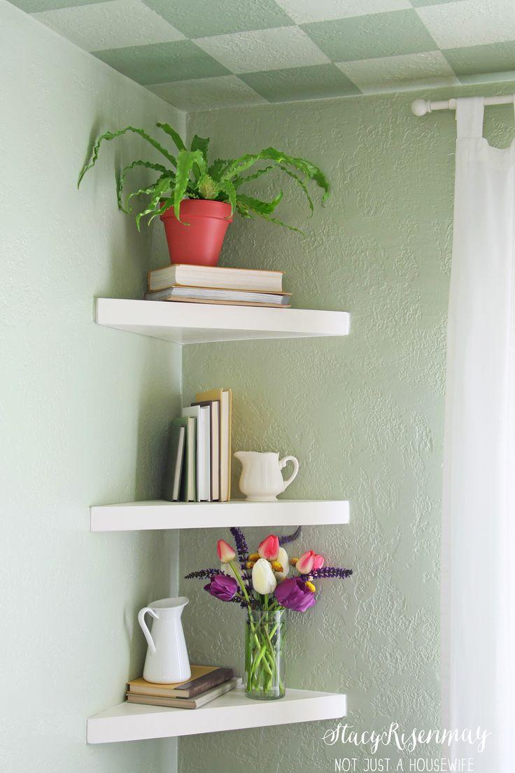 Floating Corner Shelves for corner by kitchen table