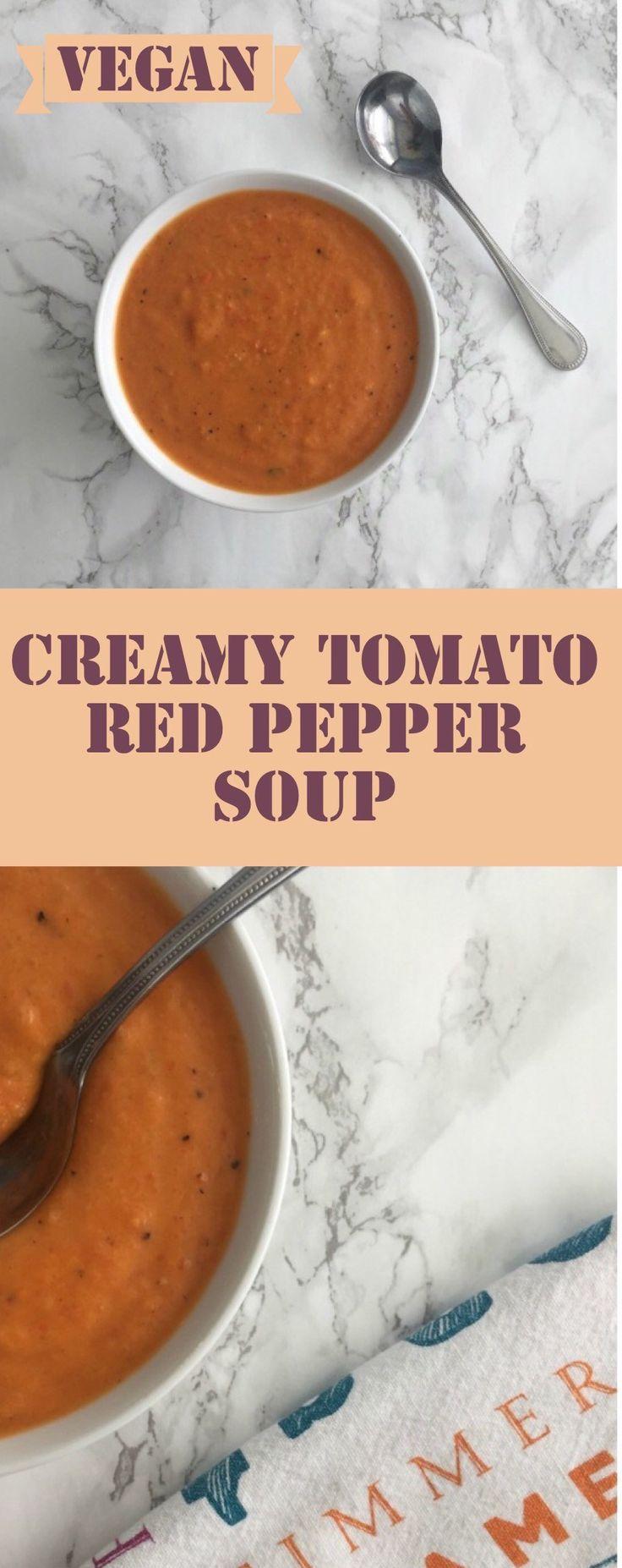 Creamy Tomato Red Pepper Soup