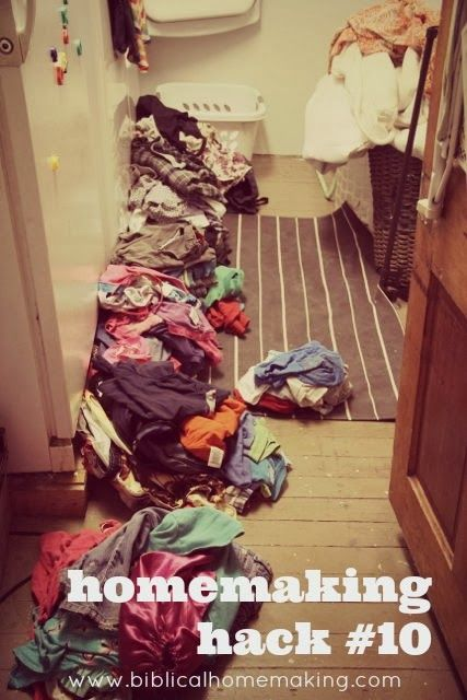 Biblical Homemaking: homemaking hack #10: the best laundry secret EVER.