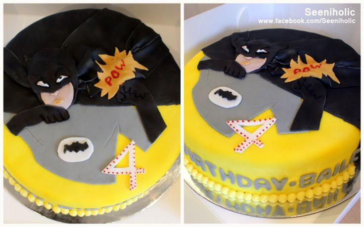 Batman themed cake