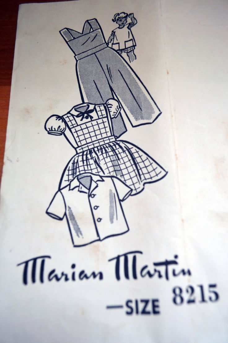The Sun, News-pictorial, Melbourne. 1956. Marian Martin, pattern 8215 size 4 yrs. blouse, cobbler apron, overalls. by TheQuiltedCheese on Etsy