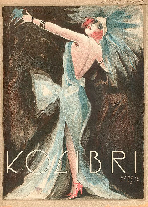 Music Book Cover by Willy Herzig (1894-1978),1924, Kolibri.