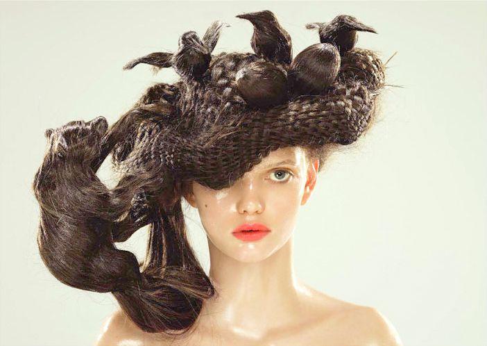 bizarre hairstyle