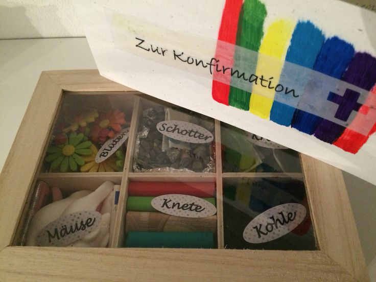 """Geldgeschenk zur Konfirmation - Teebox mit verschiedenen """"Geldsorten"""""""