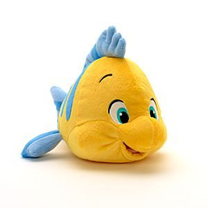 Disney Flounder Small Soft Toy | Disney StoreFree Shipping - Friend to The Little Mermaid in the much-loved Disney film, this Flounder soft toy can now be a companion to your princess. The fleecy fish includes fin details, embroidery features and a cuddly bean bag filling too.