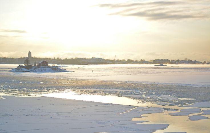 Scandinavian Archipelago in Winter