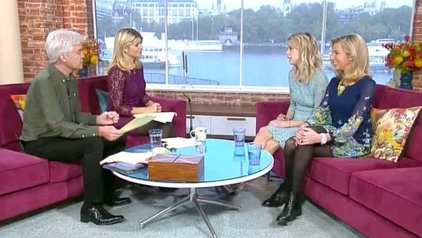 Then sit nice and cosy on the This Morning sofa together ready to have a debate about parenting. | The 15 Steps Of Taking Katie Hopkins Down, As Told By Peaches Geldof