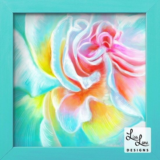 "Lisa Lane on Instagram: ""My #rainbow #rose #painting inspired by the #beautiful #floral photography of @lisa.campbell.glennie.photo Besides having the same first…"""