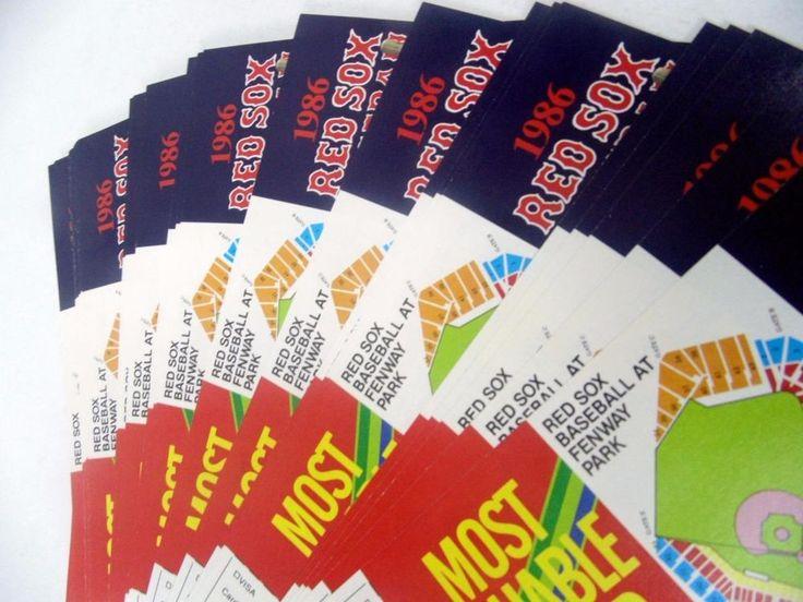 lot of 50 Boston Red Sox pocket schedule sked 1986 Bank of Boston MBL baseball