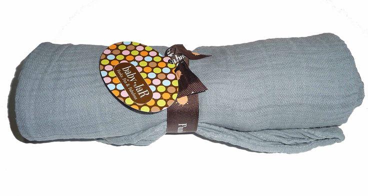 Baby JaR - Single Muslin Swaddles - Solid Grey