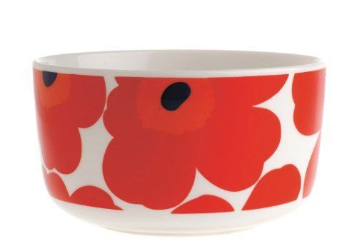 Marimekko Unikko Red Cereal Bowl 500 ml