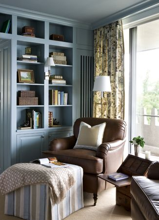 The Library Designed By Kelley Proxmire Boasts Same Blue And Tan RoomsWashington DcIdeas
