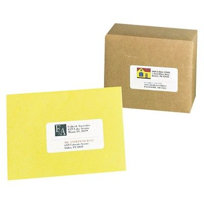 Avery 08163, Shipping Labels with Ultrahold Ad & TrueBlock, Inkjet, 2 x 4, White, 250pk