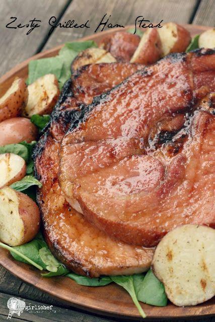 Zesty Grilled Ham Steak