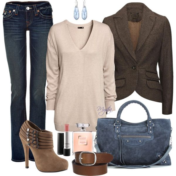 """Jeans and tweed"" by cafemystra on Polyvore"