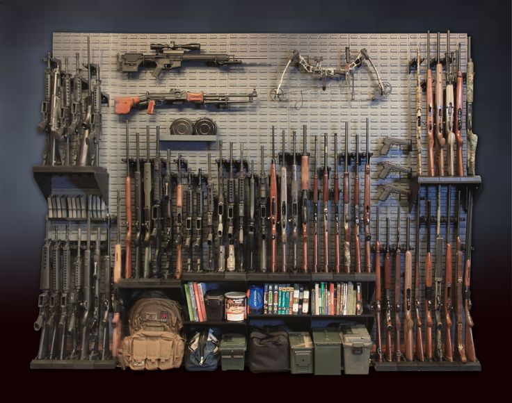 Store Every Firearm You Have Plus Gear Plus Ammunition Plus Anything Else  You Want! Gun Wall Kit Is A Beast. Would Be Great In A Hidden Safe ...