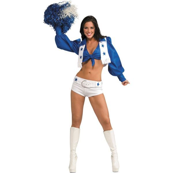 This is one of the costume choices im thinking of doing. Adult Dallas Cowboys Cheerleader Costume