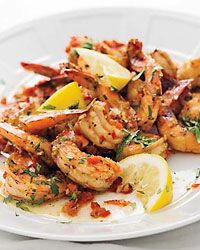 Creole Shrimp with Garlic and Lemon Recipe.  I use coconut oil or palm oil with this dish.  Love creole food!!