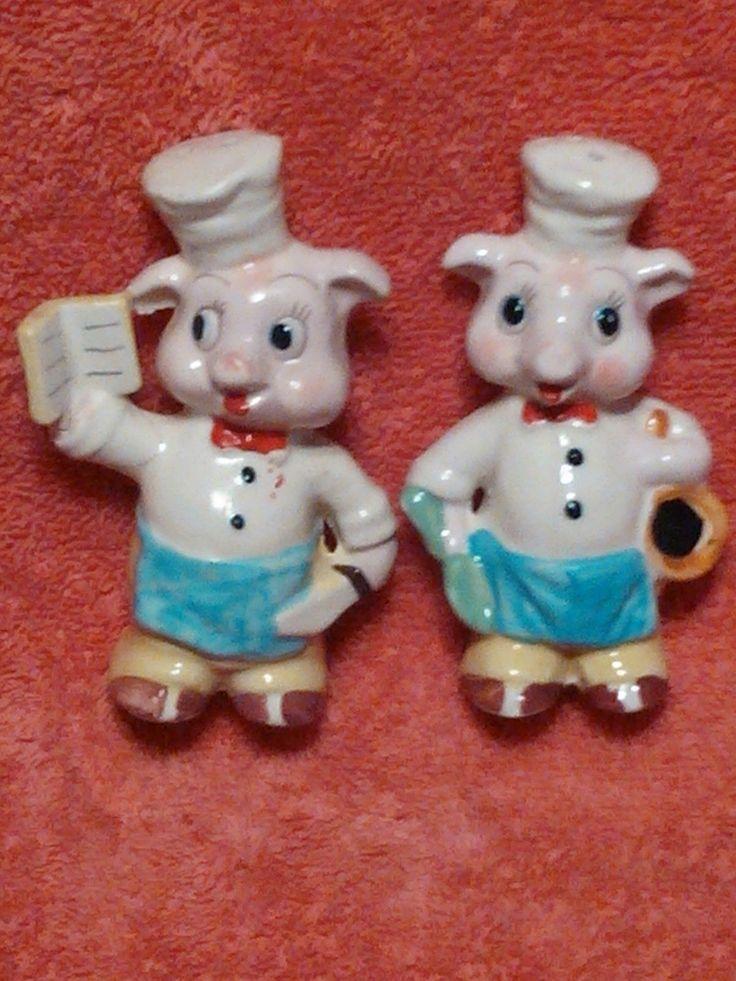 1940's Pig Image Salt & Pepper Shakers