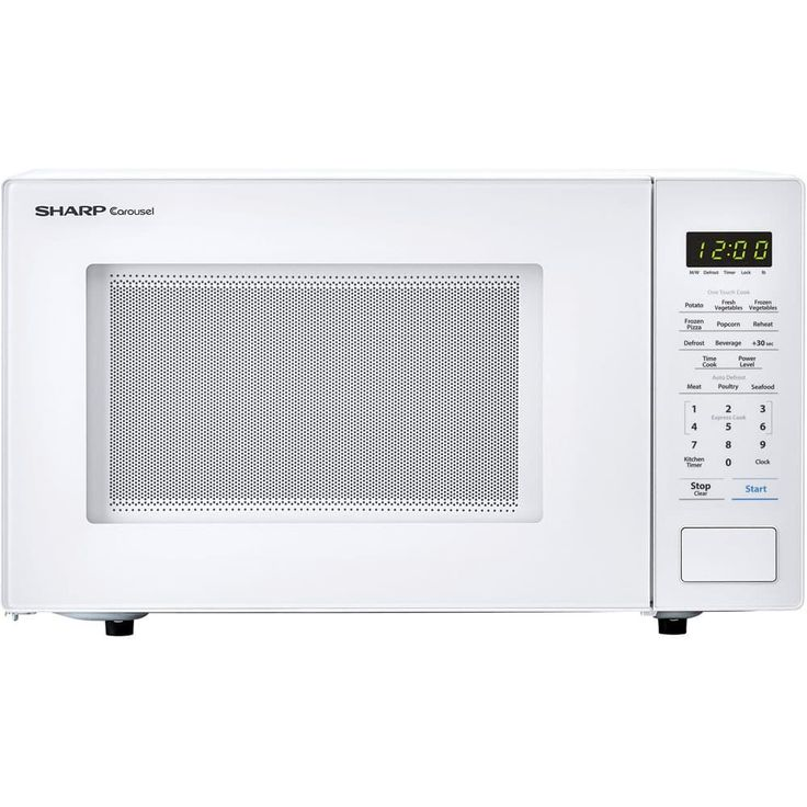 Sharp Carousel 1.1 Cu. Ft. 1000W Countertop Microwave Oven in White (White)