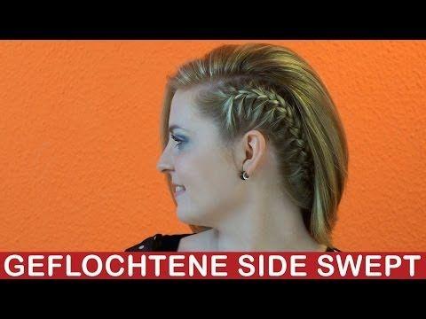 Seitliche französische Zopf mittellange & lange Haare Alltag & Abend Frisur Mega Volumen mit Kreppeisen