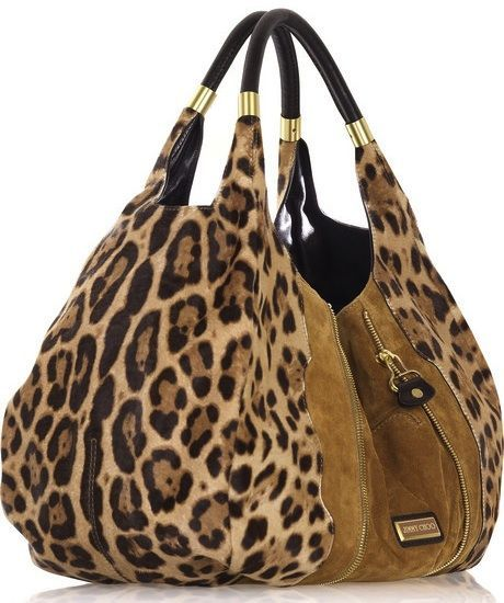 Giada genuine italian leather suede hobo handbag leopard for Designer bad
