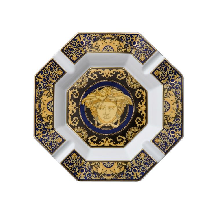 MEDUSA BLUE. Cenicero de 14cm de #Rosenthal #Versace (Alemania). Encuentra regalos especiales como este en nuestra tienda online y celebra lo auténtico. http://www.fidelius.com.uy