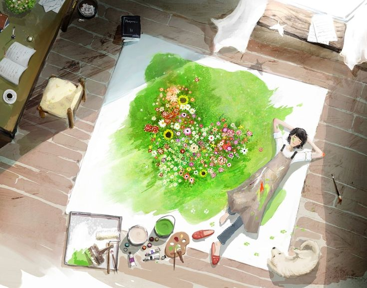 It's a Beautiful Day - 10 Amazing Anime Color Paintings    http://designhey.com/beautiful-day-10-amazing-anime-color-paintings/