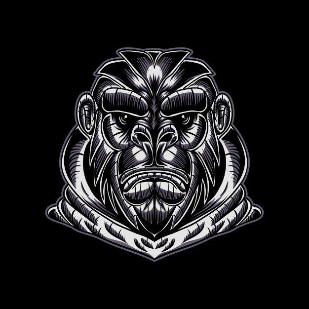 Gorilla Face Vector Illustration Vector Illustration Illustration Vector Images